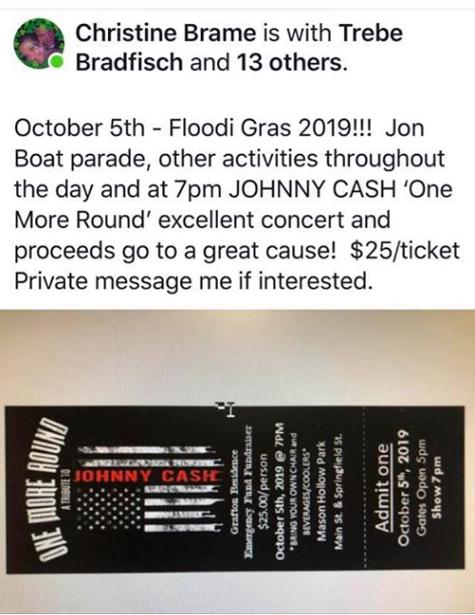 www RiverBills com Calendar of River Events